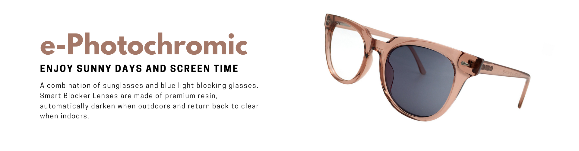 e-Photochromic 變色抗藍光眼鏡