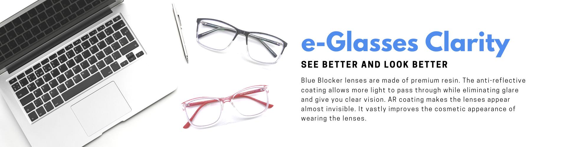 e-Glasses Clarity 高清抗藍光眼鏡
