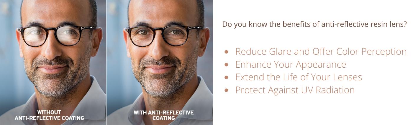 Anti-Reflective Resin Lens