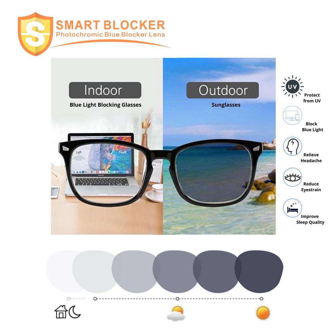 Smart Blocker Photochromic Lens
